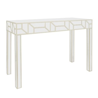 Solid Wood Console Table Color: Champagne