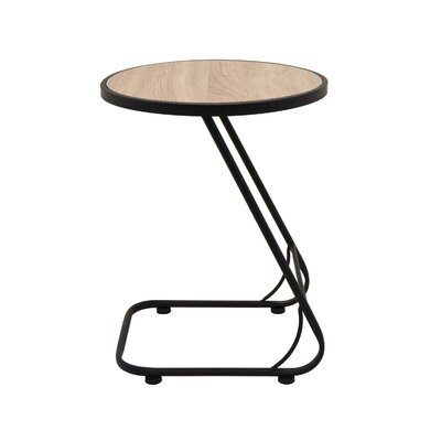 Oval Wood/Metal Console Table