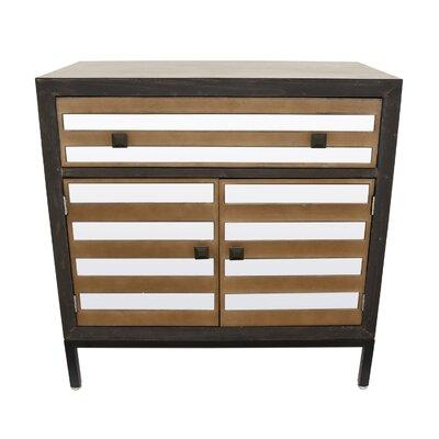 Pledger Wood Mirror 1 Drawer Accent Cabinet