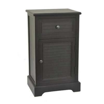 Melynda Wood Accent Cabinet Color: Black
