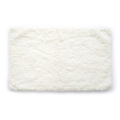 Laure Ultra Plush Shaggy Bath Rug Color: White