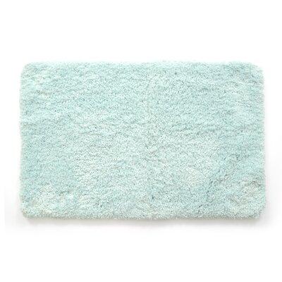 Laure Ultra Plush Shaggy Bath Rug Color: Aqua