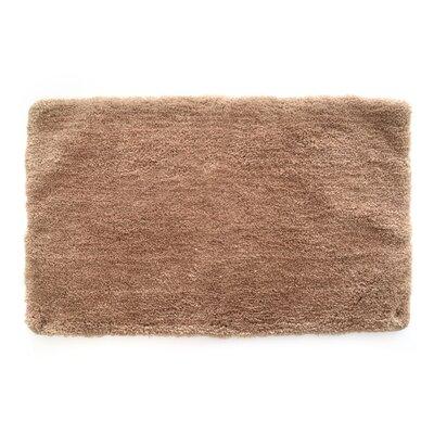 Laure Ultra Plush Shaggy Bath Rug Color: Tan