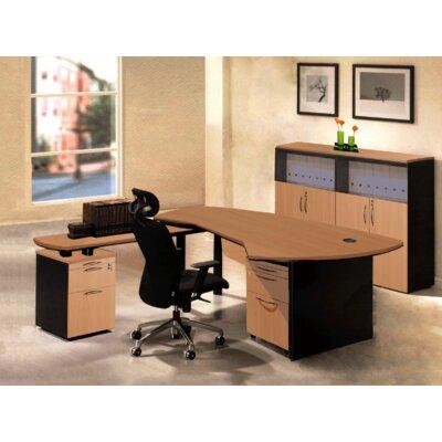 Executive Management 5 Piece L-Shaped Desk Office Suite