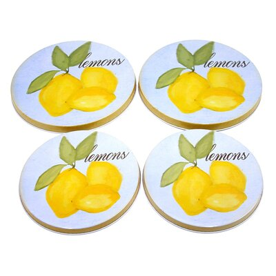 Lemon 4 Piece Cooktop Burner Cover Set