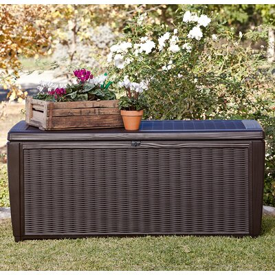 Sumatra 135 Gallon Resin Deck Box Color: Espresso Brown