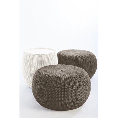 Cliona 3 Piece Accent Stool Set Color: Harvest Brown/ Taupe