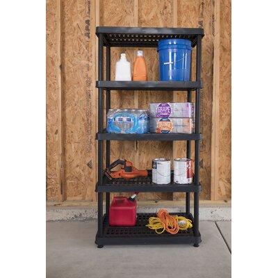 """Utility 72"""" H Five Shelf Shelving Rack Unit Size: 72"""" H x 36"""" W x 24"""" D"""