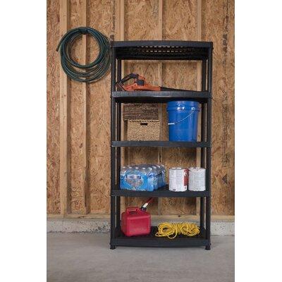 """Utility 72"""" H Five Shelf Shelving Rack Unit Size: 72"""" H x 36"""" W x 18"""" D"""