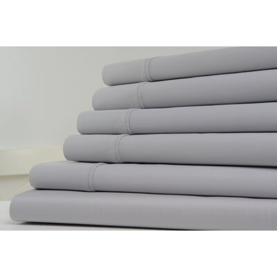 1200 Thread Count Sheet Set Color: Silver, Size: King