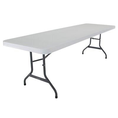 """96"""" Rectangular Folding Table Finish: White"""