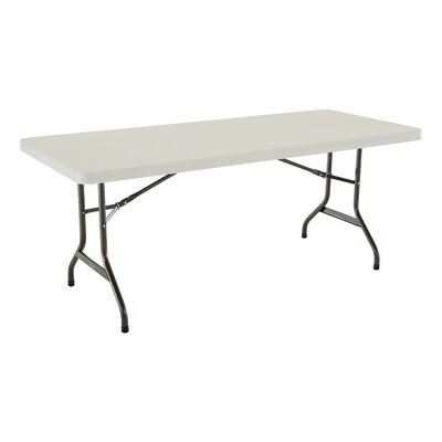 "72"" Rectangular Folding Table Finish: Almond"