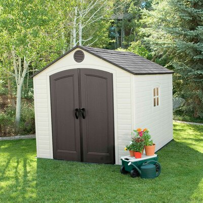 8 ft. W x 7 ft. 8 in. D Plastic Traditional Storage Shed
