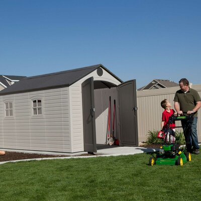 8 ft. W x 12 ft. 5 in. D Plastic Storage Shed