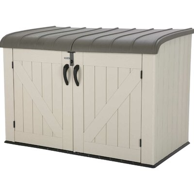 75 Gallon 6 ft. 3 in. W x 3 ft. 5 in. D Plastic Storage Shed