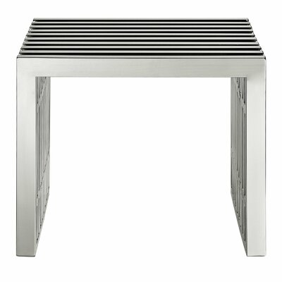 "Holloman Metal Bench Size: 17"" H x 20"" W"