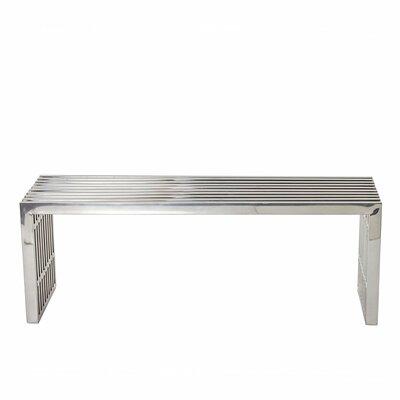 """Holloman Metal Bench Size: 17"""" H x 56"""" W"""