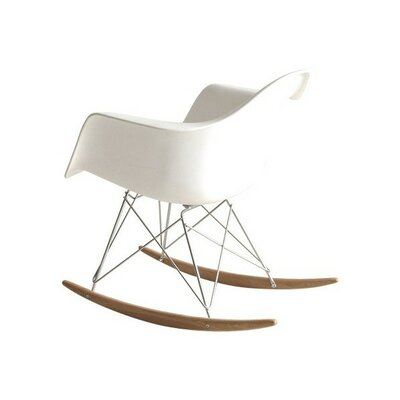 El Monte Rocking Chair Color: White