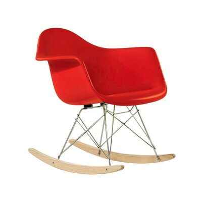 El Monte Rocking Chair Color: Red
