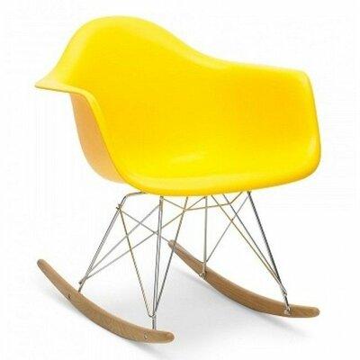 El Monte Rocking Chair Color: Yellow