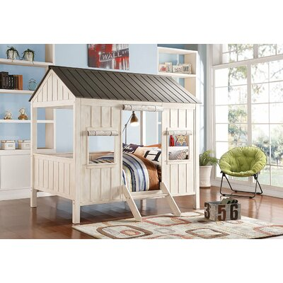Duchene Spring Cottage Full Canopy Bed Bed Frame Color: Weathered White/Washed Gray