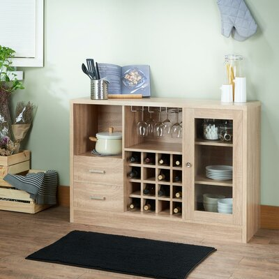 Merkel Rustic Serving Accent Cabinet Color: Oak