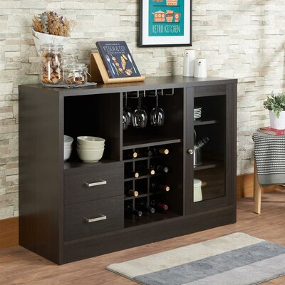 Merkel Rustic Serving Accent Cabinet Color: Espresso