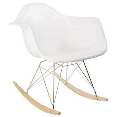 Eiffel Rocking Chair Color: White