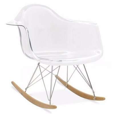 Eiffel Rocking Chair Color: Clear