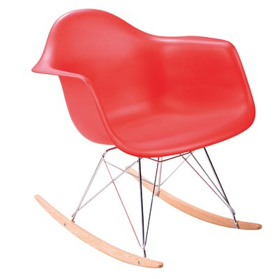 Eiffel Rocking Chair Color: Red