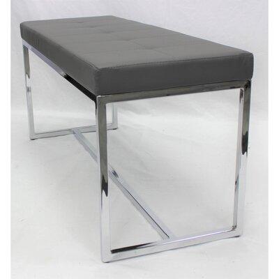 Upholstered Bench Upholstery: Light Gray