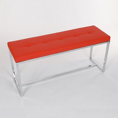 Upholstered Bench Upholstery: Red
