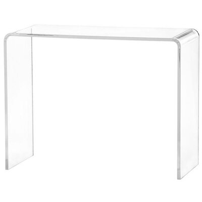 """Peek Acrylic Console Table Size: 30"""" H x 38"""" W x 12"""" D, Color: Clear"""