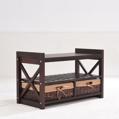 Harmony Wood Storage Bench