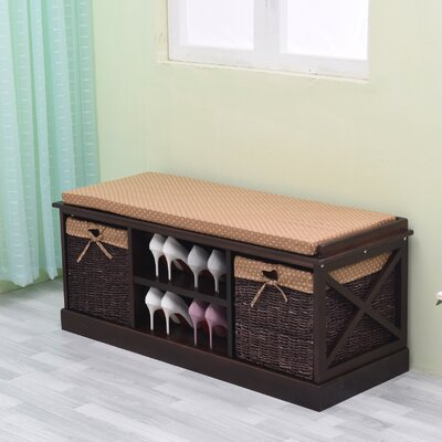 Wood Storage Bench