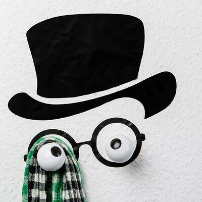 Hookly Mister Hookly Professor Decal Wall Hook