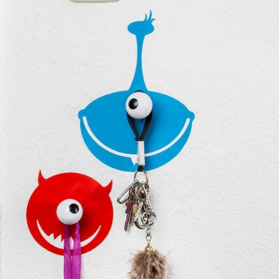 2 Piece Hookly Monsters Decal Wall Hook