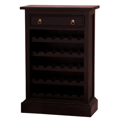 Georgianna Fine Handcrafted Solid Mahogany Wood 30 Bottle Floor Wine Cabinet Color: Chocolate