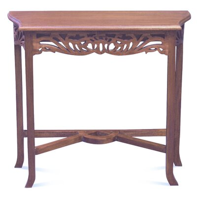 Bordeaux Fine Handcrafted Solid Mahogany Wood Console Table Color: LIght Pecan