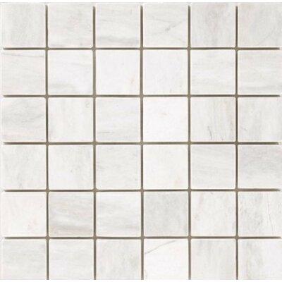 "Polished 2"" x 2"" Mosaic Tile in Bianco Dolomite"