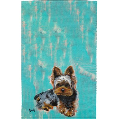 Yorkie Full Face Cotton Hand Towel