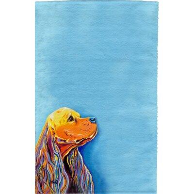 Cocker Spaniel Full Face Hand Towel