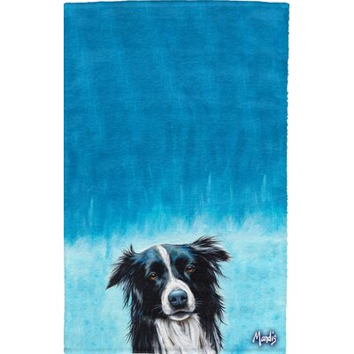 Border Collie Full Face Cotton Hand Towel