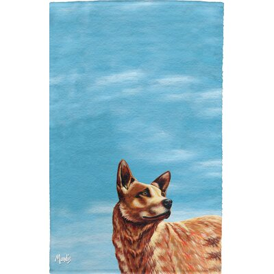 Texas Cattle Dog Full Face Cotton Hand Towel
