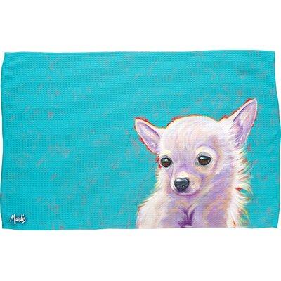 Chihuahua Waffle Weave Hand Towel