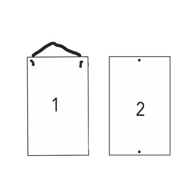 """Ladies and Gents Bathroom Sign Size: 16"""" H x 10"""" W"""