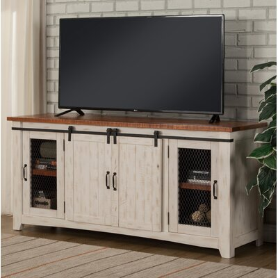 """Belen 65"""" TV Stand Color: Antique White and Distressed Pine"""
