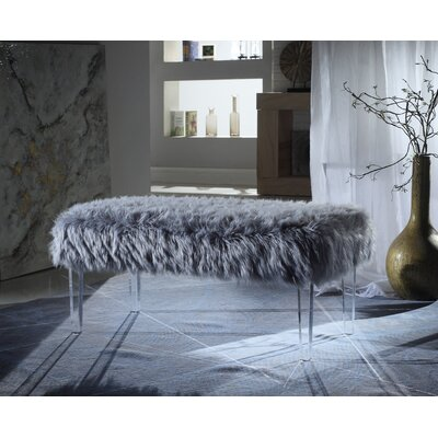 Caddington Upholstered Bench Upholstery: Gray