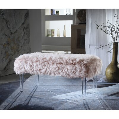 Caddington Upholstered Bench Upholstery: Pink