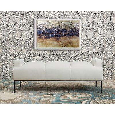 Eldora Upholstered Bench Upholstery: White